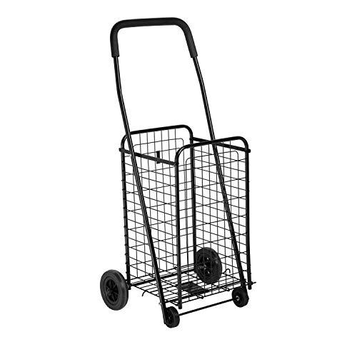 Honey-Can-Do Black Four Wheel Utility Cart, Medium