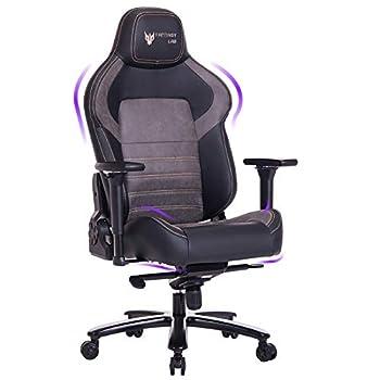 FANTASYLAB Big and Tall Gaming Chair Memory Foam Computer Game Chair 4D Arm 400lb Metal Base Reclines Ergonomic High-Back Racing Desk Office Chair