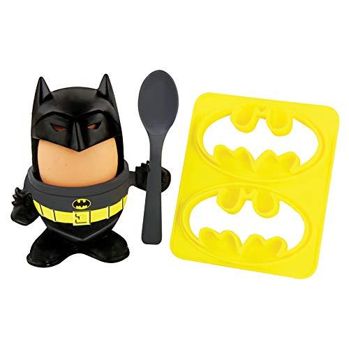 Paladone PP4431DC Batman avec coquetier à œuf, Topper, cuillère, Coupe-Pain sous Licence Officielle DC Comics Multicolore 6 x 20 x 14 cm