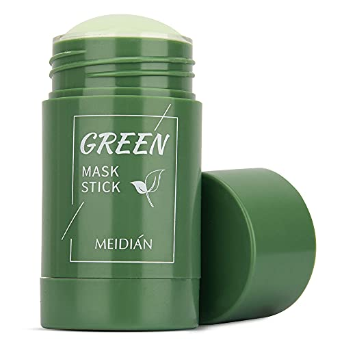 Green Tea Purifying Clay Stick, Face Moisturizes Oil Control, Deep Clean Pore, for All Skin Types Men and Women