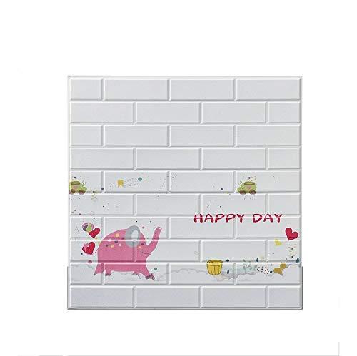 LRZS Foam brick wall panels Bedroom Foam Tile Nursery Study Toy Room 3D Self-Adhesive Wallpaper Real Bricks Effect Wall Panels For Kindergarten TV Walls/Sofa Background (Color : 14001, Size : 5pcs)