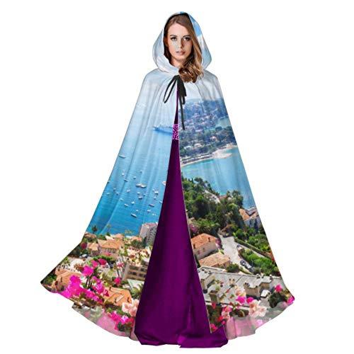 Lanscape Riviera Coast Türkis Wasser Blume Mantel Haube Männer Kapuzenmantel 59 Zoll Für Weihnachten Halloween Cosplay Kostüme