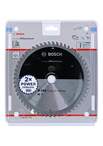 Bosch Professional 2608837771 Disco Standard for Aluminium, Aluminio, 56 Dientes, Accesorio de Sierra Circular sin Cables, 190 x 30 x 2 mm