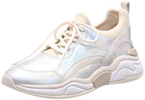 Marc Cain Damen Sneaker, Silber (Silver 800), 38 EU