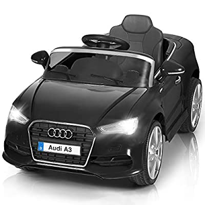 Costzon Ride On Car, Licensed Audi A3 12V Battery Powered Ride-On Vehicle, Manual/Parental Remote Control Modes with Headlights, MP3, Music, High/Low Speeds, 2WD from Costzon