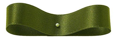 Ruban double face satin 24 mm × 30 m feuille vert