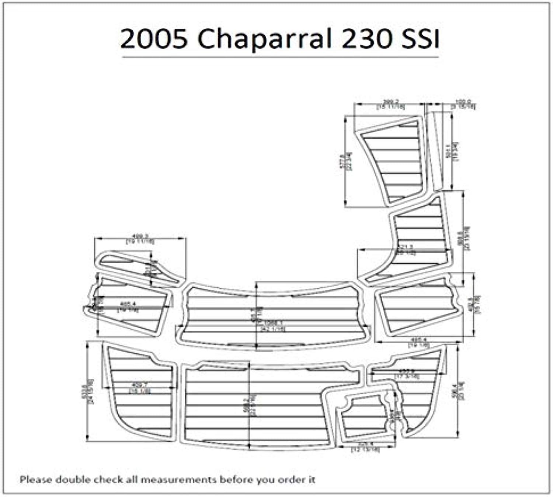 2005 Chaparral 230 SSI Swim Platform Pad 1 4  6mm Boat EVA Teak Decking
