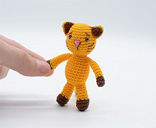 Juguete gato amarillo, animal de peluche, llavero de