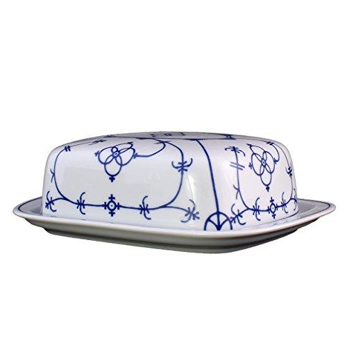 Eschenbach Porzellan Group Tallin Indischblau Butterdose 250 g, Porzellan, Indigoblau, 1 x 1 x 1 cm