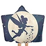 Adults Hooded Bath Towel Tinkerbell and Fairy Flying Quick Dry Beach Towels for Men Women Couples Families Or Friends Gifts