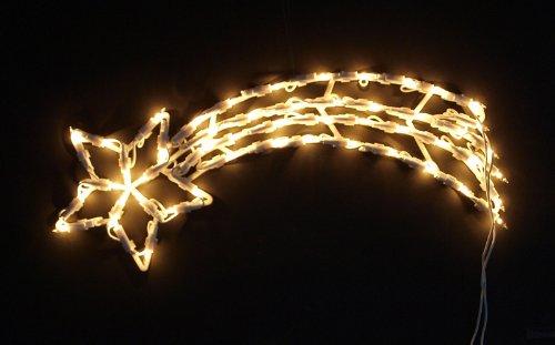 DEGAMO Fensterbild beleuchtet 50cm mit 50 LED, Motiv Sternschnuppe, mit Saugnapf