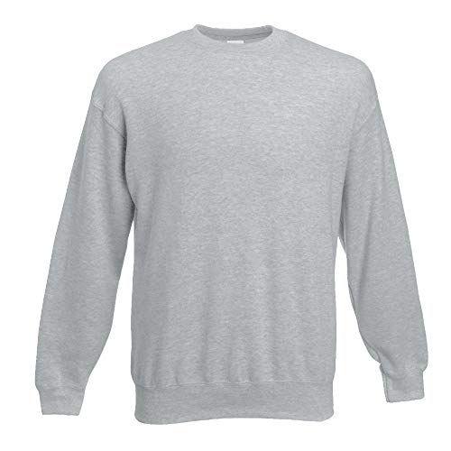 Fruit of the Loom - Set-In Sweatshirt - heather grey - Größe: L