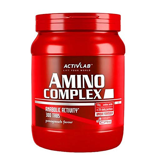 ACTIVLAB Amino Complex 300 Chewable Tablets | Full-Spectrum BCAA + Essential Amino Acids | L-Glutamine | Anabolic + Anticatabolic | Food Supplement for Muscle Growth