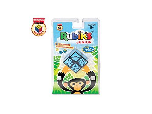 ThinkFun 76397 - Rubik's Junior 2x2, der original Rubik's Cube für Kinder ab 5 Jahren. Lustiges, kindgerechtes Design für junge Rätselspieler.