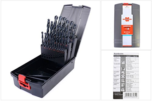 Würth Spiral Bohrer Set 25 tlg. HSS DIN Typ N 338 Sortiment Box Twist Drill Set 0634 6