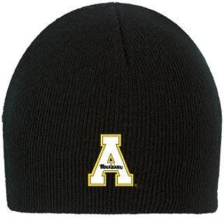 CollegeFanGear Appalachian State Black Knit Beanie 'App State A'