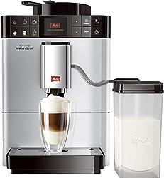 Melitta Caffeo Varianza CSP F570-101, Kaffeevollautomat mit Milchbehälter, One Touch Funktion, Silber
