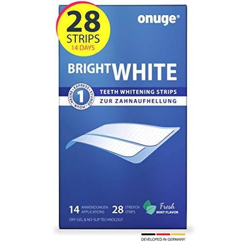 Onuge O1000 Bright White Teeth Whitening Strips för Tandbelysning, 28 Ränder