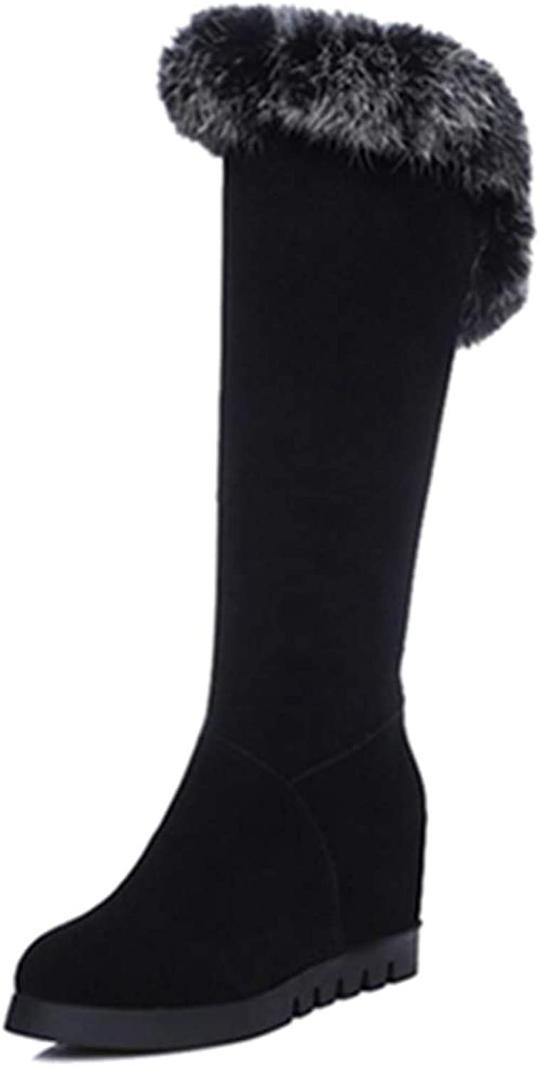 Onewus Women Fashion Knee High Boots