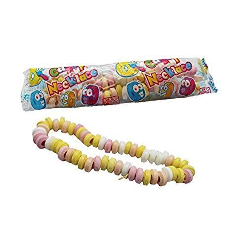 10 Stk. je 17g Süße Ketten Candy Necklace extra lang einzeln verpackt Kindergeburtstag Süßigkeiten Candy Bar…