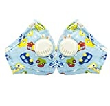 CHRISLZ 2 pcs PM2.5 Kinder Reine Baumwollmaske Wiederverwendbare Anti-Fog Anti Staub mit Filter Atemschutzmaske Kinder Mund Maske(car)