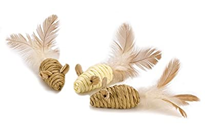 Catkins by Petface Mini Mice Tails Cat Toy, 3-Piece