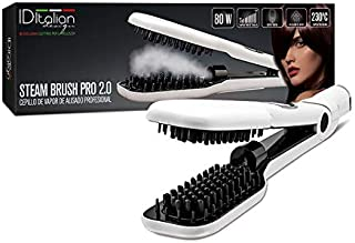 ID Italian Design | Cepillo Alisador Steam Brush Pro 2.0 de Color Blanco - 80W