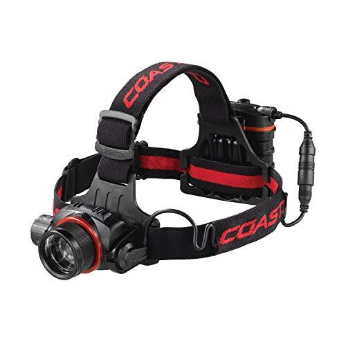 Coast HL8R 800 lm Rechargeable Pure Beam Focusing LED Headlamp, black