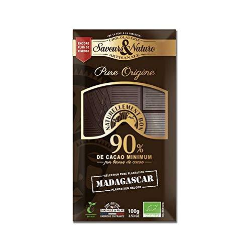 SAVEURS ET NATURE - TABLETTE CHOCOLAT NOIR 90% MADAGASCAR