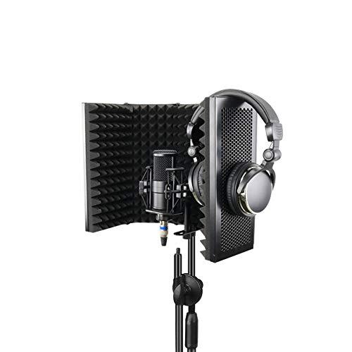 Winbang Sound Shield, Faltbares Mikrofon Schalldämmende Schaumstoffplatte Für Die Aufzeichnung Von Live-Übertragungen