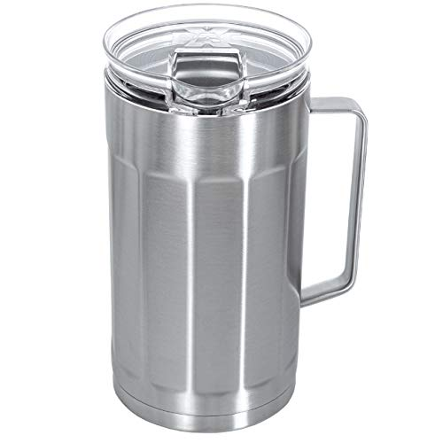 XPAC 84-Ounce Sweat-Free Beverage/Water Pitcher, Stainless Steel, Vacuum Insulated, Keeps Drinks Cold For Hours