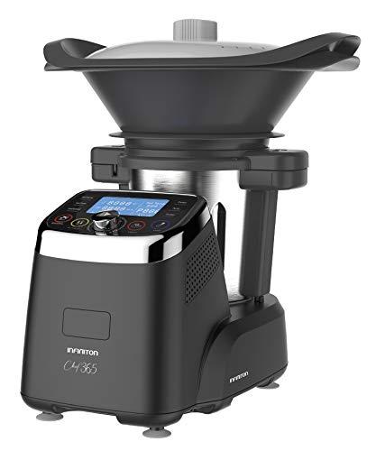 Robot DE Cocina MULTIFUNCION INFINITON Chef 365 (Temperatura hasta 120ºC, Capacidad 3 litros, 12 Velocidades, Vaporera, Incluye Recetario, 1500W)