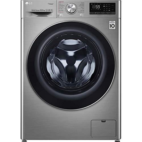 LG F4V710STS 10.5kg 1400rpm AI DD Freestanding Washing Machine With TurboWash 360 & Steam - Graphite