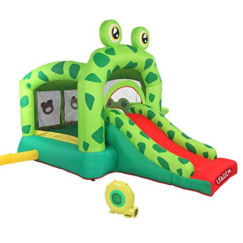 Youareking Frog Inflatable Castle Bh-060 Slide Inflatable Bounce House, 420d Oxford 840d Face Simple Structure Easy Dismounting Mounting Children Inflatable Bed