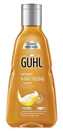 Guhl Intensiv Kräftigung Shampoo, 250ml, mit Bier, für kraftloses und feines Haar