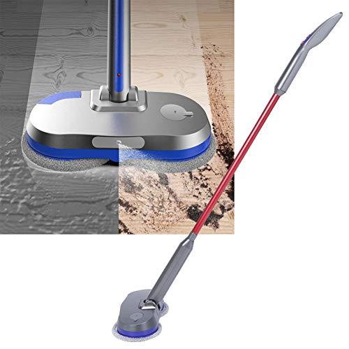 Limpiador de pisos, fregona giratoria con rociador inteligente, tanque de agua de 180 ml para baldosas de madera dura