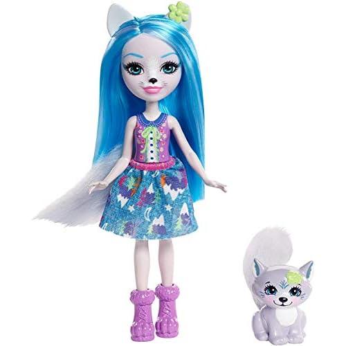 Enchantimals Bambola Winsley Il Lupo con Amico Cucciolo, Playset per Bambine, FRH40