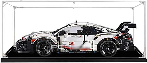FanMei Baustein Acryl Vitrine Staubdichte Vitrine für Lego 42096 Technic Porsche 911 RSR (Lego Kit Nicht im Lieferumfang enthalten) (2mm)
