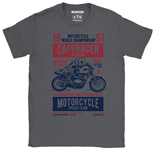 6TN Speedway - Camiseta para hombre, diseño de motocicleta de carreras clásico de Nueva York Gris gris oscuro XXL