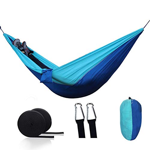 DXLANS Hamaca,Hamaca Doble Camping portátil para paracaídas Hamaca Supervivencia jardín Muebles de Exterior Ocio Dormir Viaje Doble Colgando Cama (Color : 22)