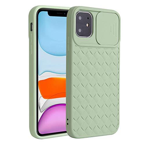 Fadter Funda para iPhone 12 Pro Max con protección de cámara, carcasa de silicona para teléfono móvil 360 grados, funda blanda para iPhone 12 Pro Max con textura antigolpes, para iPhone 12 Pro Max (6)