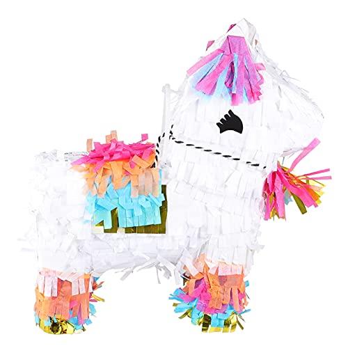 NUOBESTY Pferd Förmigen Papier Pinata Spielzeug Kinder Pinata Spielzeug Pinata Zucker Gefüllt Spielzeug Pinatas 3D Pferd für Kinder Kinder Geburtstag Party Favor Geschenke (Mischfarbe)