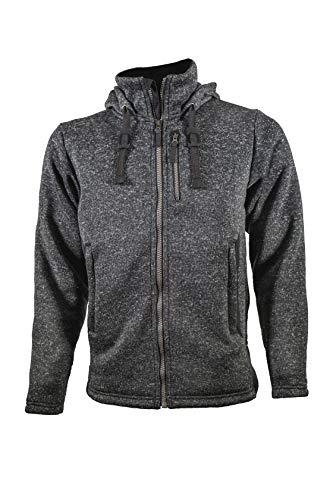 AMABILIS Men's Responder FZ Zippered Front Hoody Jacket, Asphalt Black - Large