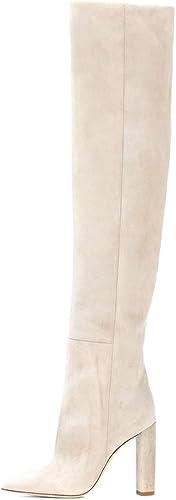 TYX-TT Longues Bottes Femmes, Coutures Pointues épaisses avec des Chaussures à Manches Rides   Podiums
