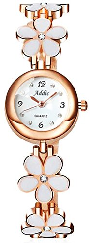 Addic Analogue Round White Dial Girl's & Women's Watch (Addi