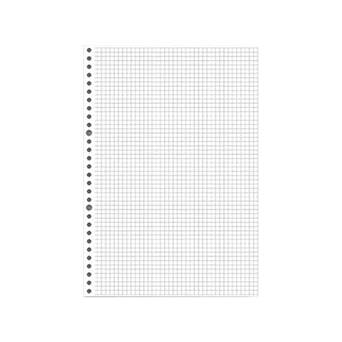 N\C 60 Hojas de Cuaderno de Hoja Suelta Recarga Espiral Binder26 Agujeros planificador Diario A4 A5 B5 cuadrícula Cornel línea Interior Papel papelería