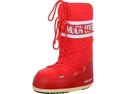 Moon Boot Unisex-Kinder Schneestiefel, Rot (Red 3), 35-38 EU