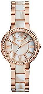 Fossil Womens Quartz Watch, Analog Display and Stainless Steel Strap ES3716