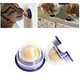 FOTN Cat Treats Sucre Ball, Casse-croûte léchage Sucre Solide Nutrition Gel Boule d'énergie Cat Snacks Bonbons