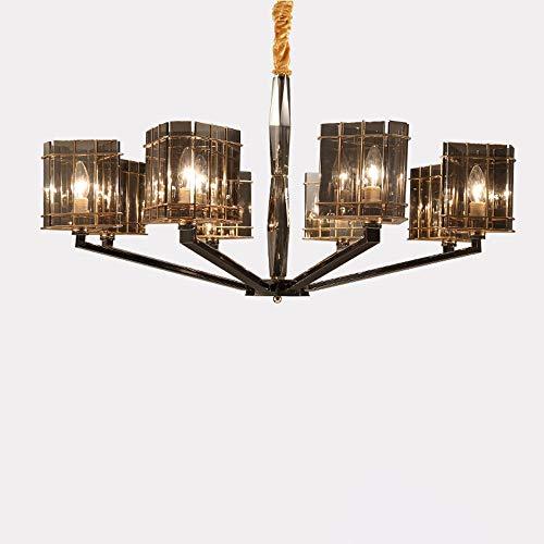 LHTCZZB 3/6/8/9/12-E14 Luces nórdico minimalista moderna sala de estar de la lámpara,lámparas de cristal clásico dormitorio,sala de exhibición de los restaurantes creativos Cuarto de Hotel